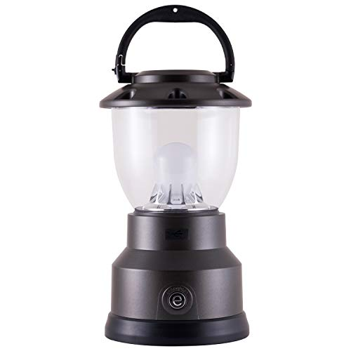 Enbrighten LED Camping Lantern, USB Charging, Battery Operated, 800 Lumens, Dimmable, 660 Hour Run Time, Hiking, Outdoors, Emergency, Storm, Hurricane, Blizzard, Gray, 40292