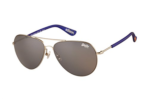 Superdry Silver Edison Aviator Sunglasses
