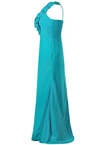 Bridesmaid Long ANTS One Jade Dress Gown Shoulder Women's Flower xXvZwvqP