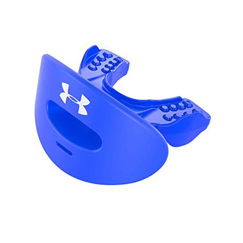 Under Armour Lip Guard for Football. Breathable & Comfortable Mouth Guard. Lip / Teeth / Mouth Protection. Works with Braces, Anti Clenching. Youth & Adult Sizes. Mouthguard Includes Helmet Strap