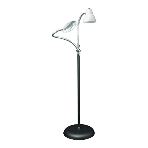 2-Arm Combination Floor Lamp and 2x Magnifier by Big eye