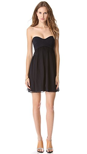 Diane von Furstenberg Women's Asti Strapless Dress, Navy, (Diane Silk Jersey Dress)