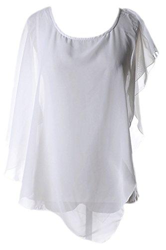 erdbeerloft - Camisas - Semitransparente - para mujer blanco