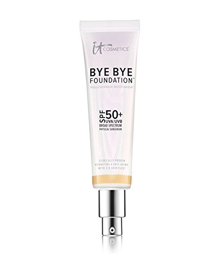 IT COSMETICS Bye Bye Foundation SPF 50+ Full Coverage Moisturizer (Tan) 1.014oz by It Cosmetics
