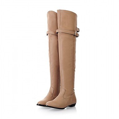 EU43 Heel Round Spring Knee Buckle Career Toe Fashion Boots amp;Amp; Winter Wedding For The Chunky Over Boots Leatherette 5 5 Shoes CN45 UK9 Women'S RTRY US11 Boots Office twvnqzSq