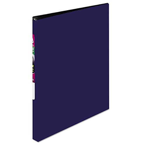Avery Durable Binder with 1-Inch Slant Ring, Holds 8.5 x 11-Inch Paper, Blue, 1 Binder - Turn Binders Ring Ez Durable