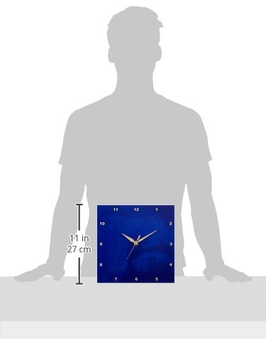 10 by 10-Inch 3dRose dpp/_15472/_1 Abstract Blue Splatter-Wall Clock