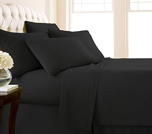 Southshore Fine Living, Inc. Vilano Springs - Premium Collection 6-Piece, 21 Inch Extra-Deep Pocket Sheet Sets, Black, King from Southshore Fine Living, Inc.