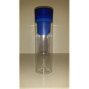 Infusion Water Bottle - Create Your Own Naturally Flavored Fruit Infused Water, Juice, Iced Tea, Lemonade & Sparkling Beverages (Blue)