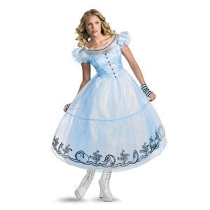 Disguise Women's Alice in Wonderland Deluxe Costume, Blue,