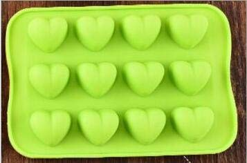 Ice Cube Tray - 12 Grid Silicone Chocolate Jelly Mold Tray Creative Star/heart/round/square Shaped Ice Cube Cake Mold - Heart - Covered Big King Rv Dc Pet In Pop D - Heart Chocolate Cakes Covered