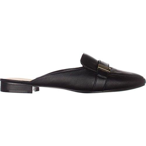 Mules Black Leather Aidaa Alfani Womens Toe Leather Square XxROwUwHq
