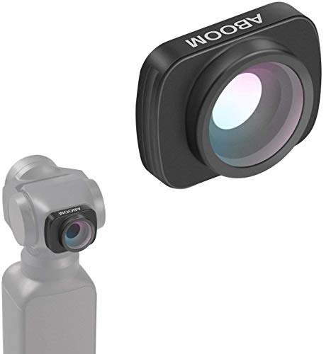 Aboom 0.6X HD Wide Angle Lensfor Osmo Pocket Accessories Expand The Field of View Vlog and YouTube Studio Photography