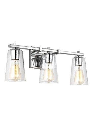 Feiss VS24303CH Mercer Glass Wall Vanity Bath Lighting, Chrome, 3-Light (22