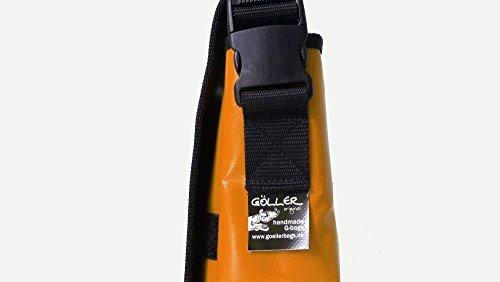 Goellerbags Umhängetasche Kokopelli 2 Schwarz H 23, B 30, T 10
