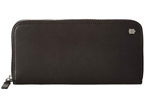 Victorinox Unisex Altius Edge Turing Zippered Deluxe Clutch Wallet w/RFID Black Leather One Size