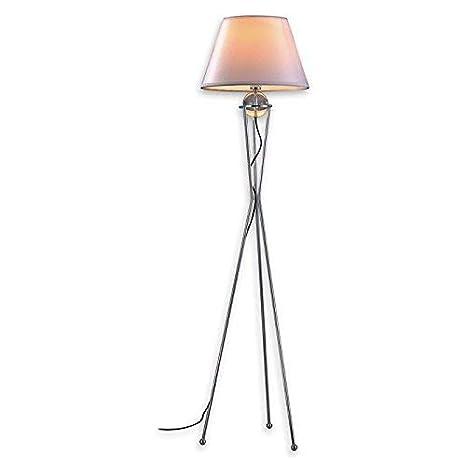 Lampenlux Bella - Lámpara de pie con pantalla de tela (172 ...