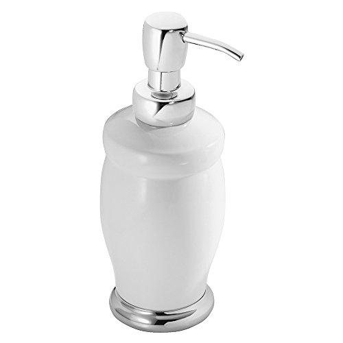 mDesign Liquid Hand Soap Ceramic Dispenser Pump Bottle for K