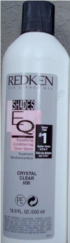 Redken Shades EQ Color Gloss Hair Color for Unisex, 000 Crystal Clear, 16.89 Ounce