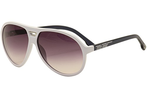 Diesel DL00346124B Aviator Sunglasses,White,61 - Sunglasses White Diesel
