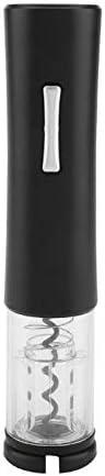 DERCLIVE Abrebotellas de vino eléctrico ABS para el hogar, sacacorchos (batería no incluida)