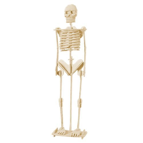 TOOGOO(R) Child Assemble Human Skeleton Model 3D Wood Puzzle Toy Construction Kit (Skeleton Wooden Kit)