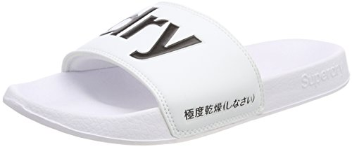 para Chanclas 01c Slide Mujer Optic Pool Blanco Superdry qtCafn