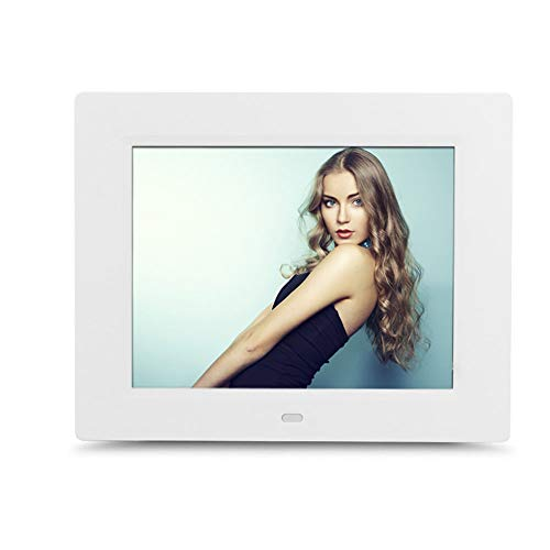 Leoie 8 inch LCD Screen LED Backlight HD 1024 x 768 Digital Screen Electronic Album Picture Frame White US (Album 8' Photo Digital)
