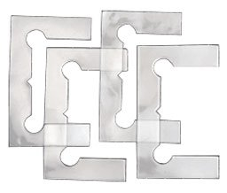 C.R. LAURENCE GEN4GKCLR CRL Clear Gasket Replacement Kit for Geneva Hinges