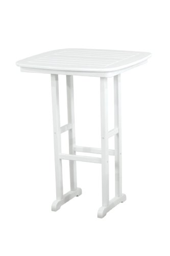 - POLYWOOD NCBT31WH Nautical Bar Table, 31-Inch, White