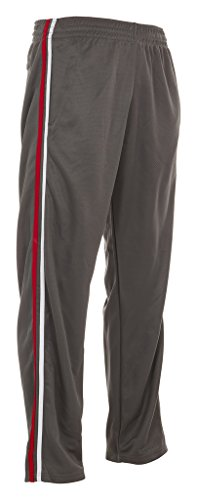 Vertical Sport Men's Mesh Track Pants – Comfortable Athletic Wear for Men – Grey, Small