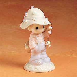Precious Moments My Love Will Never Let You Go – Boy With Hat And Fish Figurine