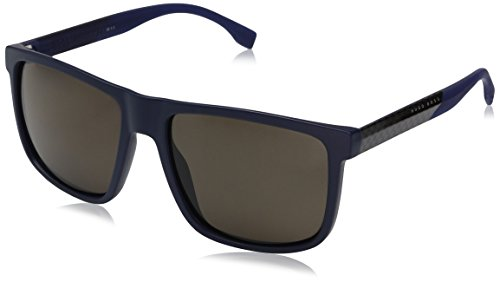 BOSS-by-Hugo-Boss-Mens-B0879s-Rectangular-Sunglasses-BlueBronze-Polarized-57-mm