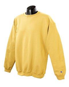 Champion Adult 50/50 Crewneck Sweatshirt, Gold - Size (Gold Crew Sweatshirt)