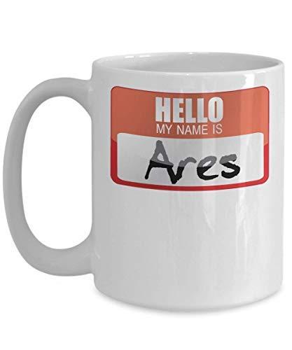 My Name Is Ares Greek Mythology Halloween Costume Greek God Ancient History Goddesses Greece Trick Or Treat Gift Mug Novelty Motivational Cup Gifts 11OZ]()