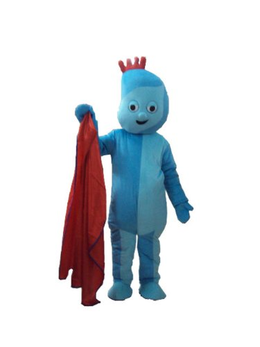 New Iggle Piggle Mascot Costume in the Night Garden Cartoon (Iggle Piggle Fancy Dress Costume)