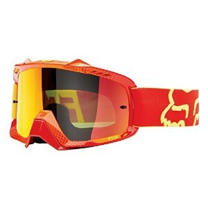 Fox Racing AIRSPC 360 Race Adult Dirt Bike Motorcycle Goggles Eyewear - Red-Yellow/Orange Spark / One Size Fits All