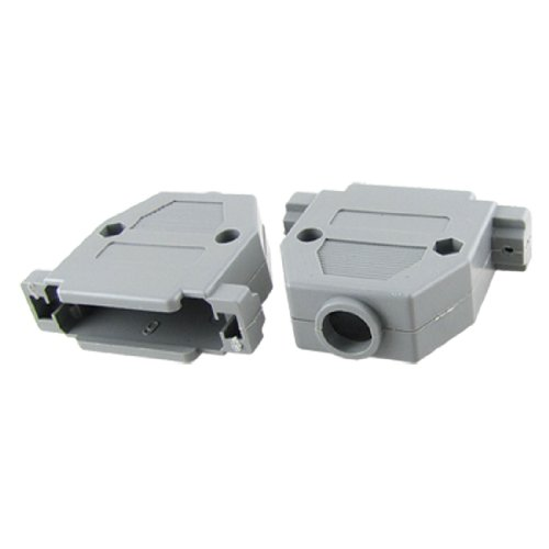 (Aexit 2 Pcs Audio & Video Accessories DB25 Male Female Gray Plastic Hoods Shell Connectors & Adapters w Screws)