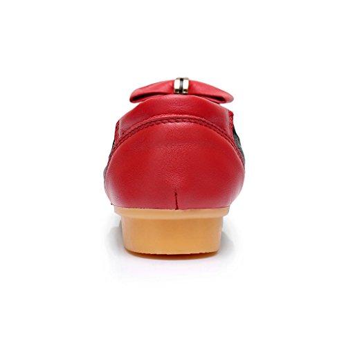 Scarpe Da Donna Antistress Su Ballerine Con Fiocco Rosso