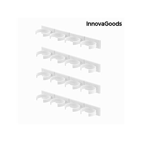 InnovaGoods Organizador de Especias con Adhesivo, PVC, Blanco, 20 ...