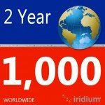 Iridium Global Prepaid Airtime SIM Card (1000 Minutes)