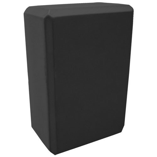 Nu-Source Yoga Block, Black, 9 x 6 x 3-Inch