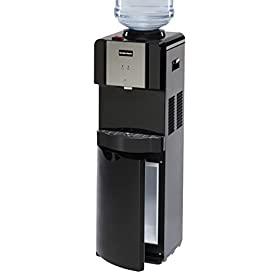 Hamilton Beach TL-5-4A Top Loading Water Dispenser with Storage Cabinet, Hot and Cold Temperatures, Black