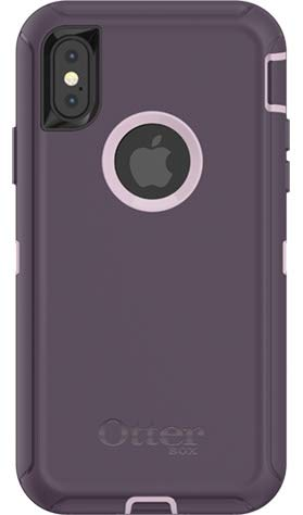 (OtterBox DEFENDER SERIES Case for iPhone X/10 (ONLY) - PURPLE NEBULA (WINSOME ORCHID/NIGHT PURPLE) - (Case Only - Holster Not Included) (Renewed))