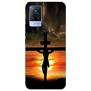 SmartNxt® Designer Printed Soft Plastic Mobile Cover for Vivo V21 5G  Spiritual  Multi-Coloured  Jesus Christ on The…