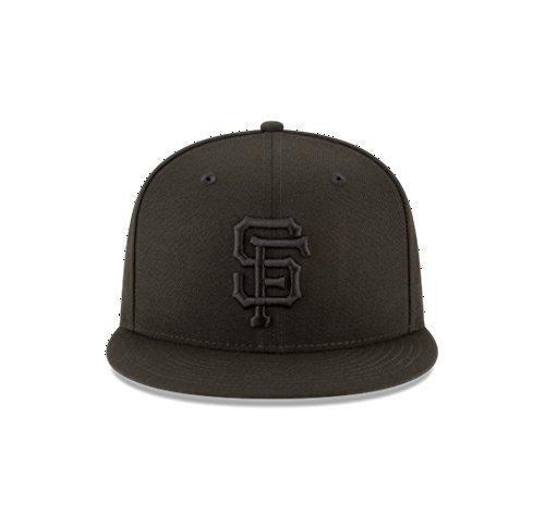 New Era Authentic San Francisco Giants 9FIFTY Snapback Black On Black - OSFM