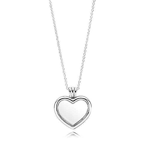 PANDORA Floating Heart Locket, Sapphire Crystal Glass & Clear CZ 590544-60