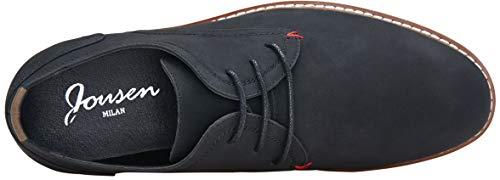 JOUSEN Men's Oxford Suede Business Casual Dress Shoes Plain Toe Oxfords Classic Formal Derby Shoes