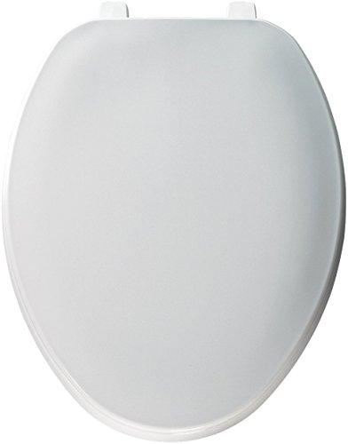 White Commercial Plastic Toilet Seat (Bemis Economy Plastic Toilet Seat, Elongated, White, 170 000)