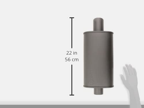 Vibrant 1145  STREETPOWER FLAT BLACK Oval  Stealth Muffler 2.25 Universal